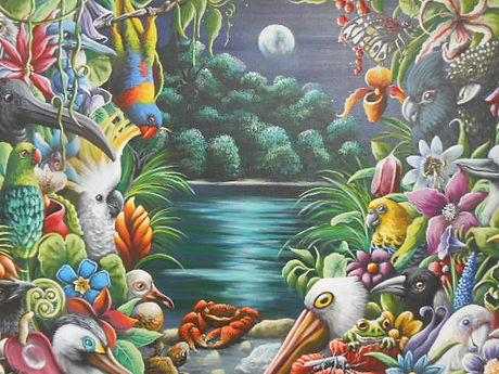 Moonlight in Oz, acrylic on canvas