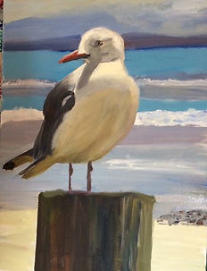 Seagull, oil