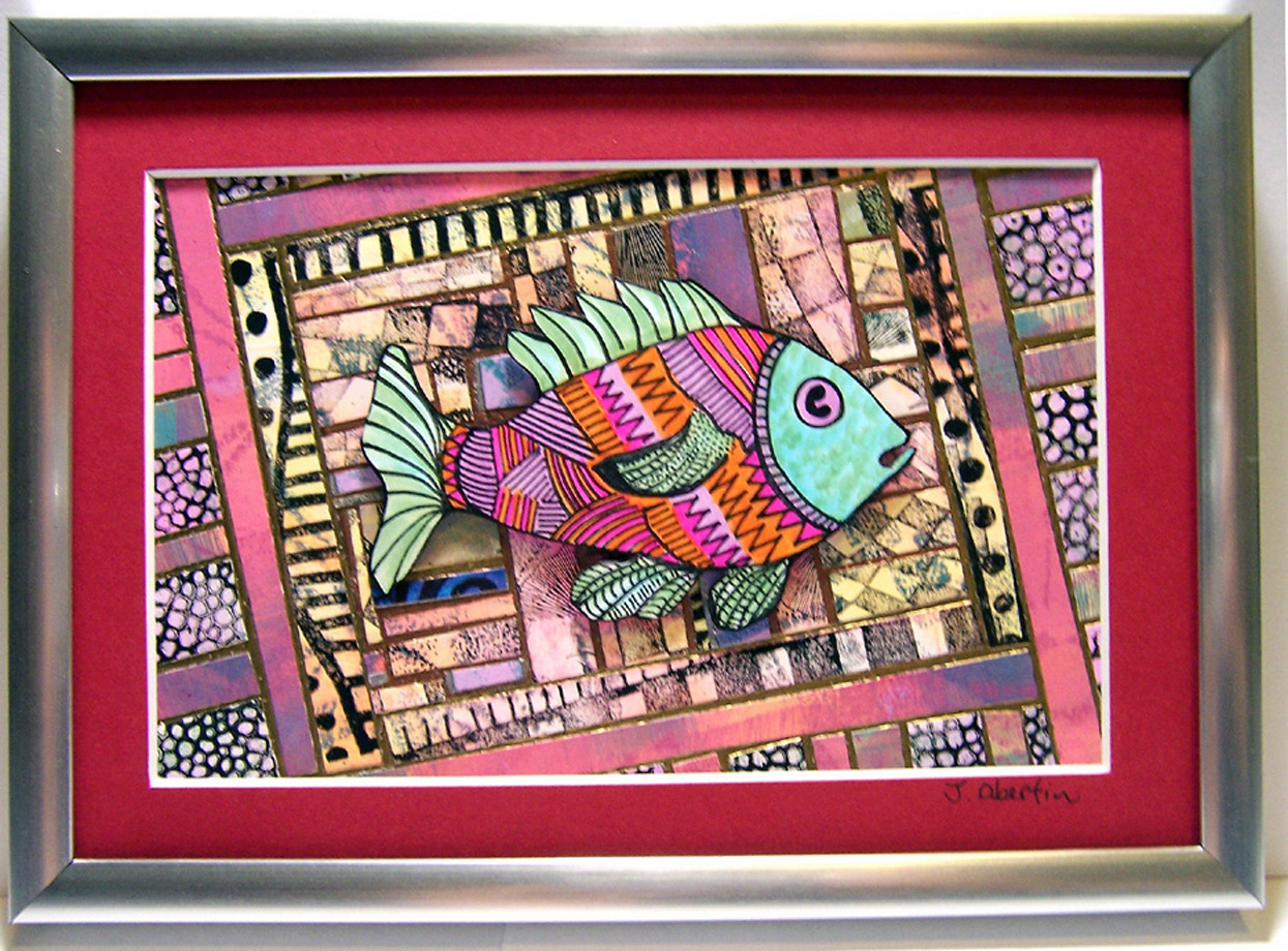 PAPER ART MOSAIC FISH