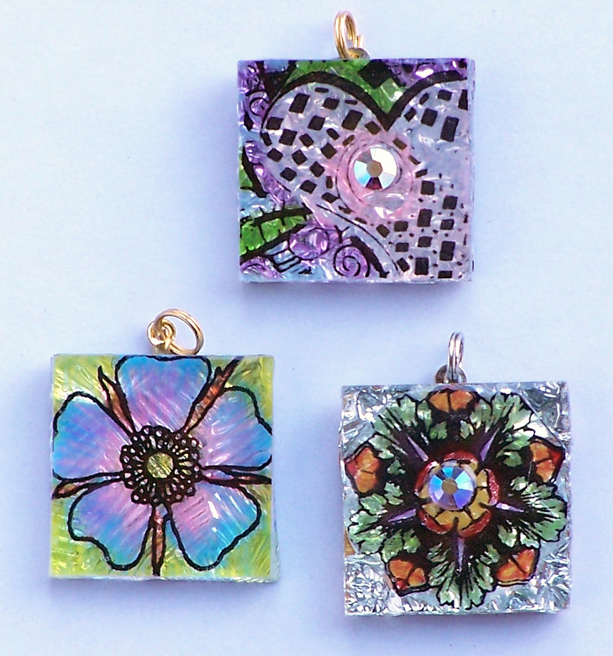 SQUARE GLASS PENDANTS