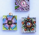 Glass pendant samples for Art Glass & Bead Show Madison,Wisconsin.