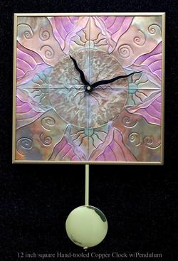 COPPER  PENDULUM CLOCK