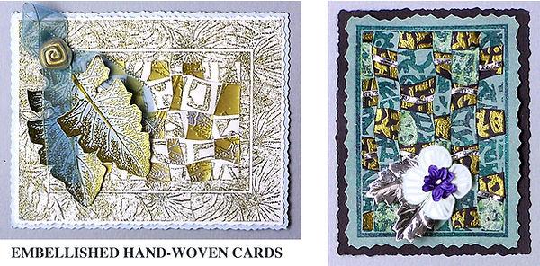 Weaving stamp card sample