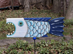Fish blue with scales