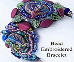 Beaded bracelet by Sandi Obertin for the Art Glass & Bead Show Madison,Wisconsin.