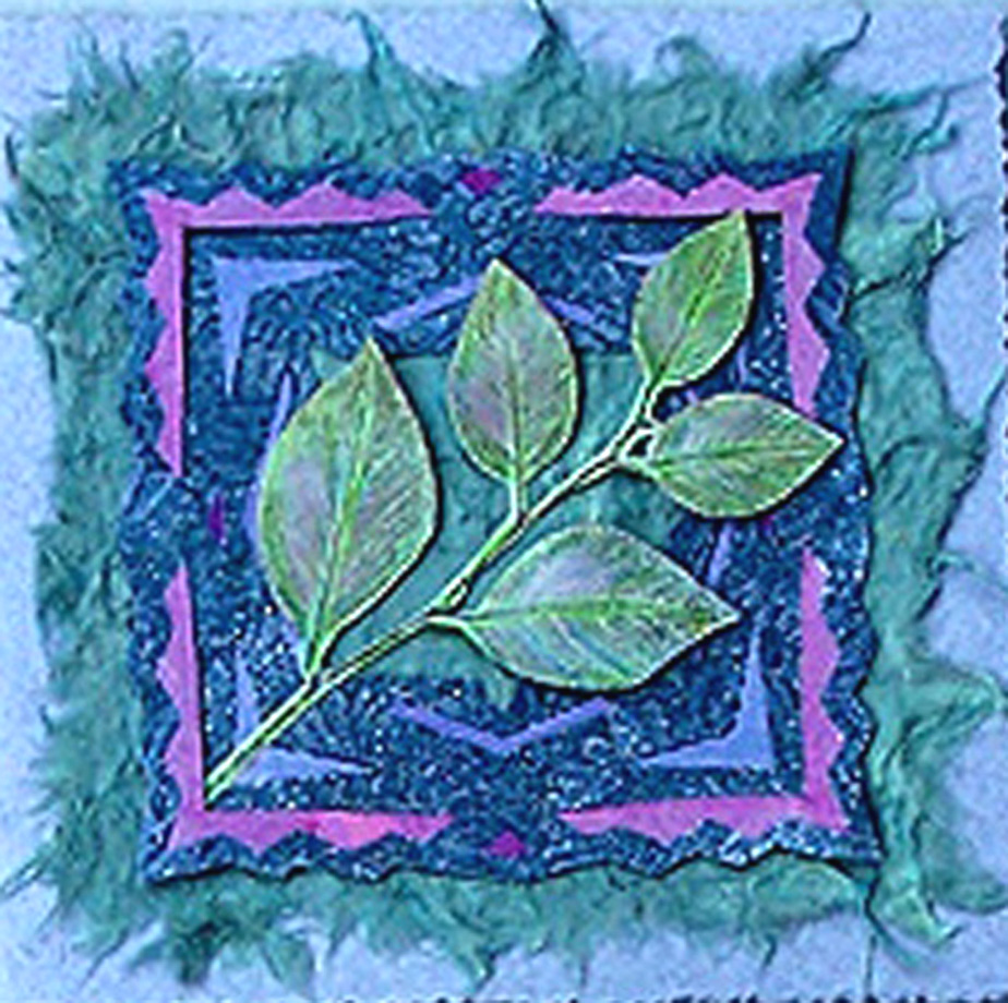 textured leaf collage 1