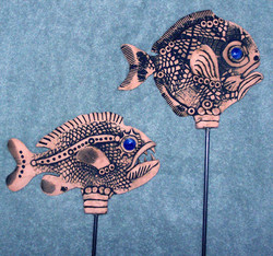 Stoneware Fish Garden Art