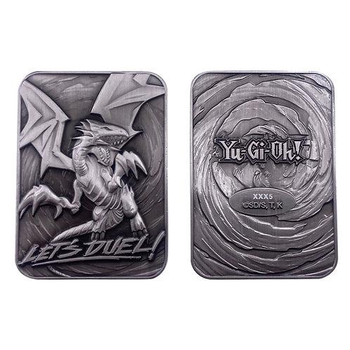 Carte métal Dragon Blanc aux Yeux Bleus