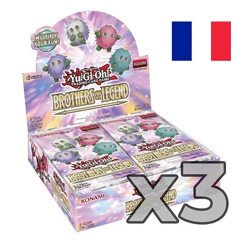 Boîte de boosters 'Frères de légende' (Fr) x3 (77,8€/u)