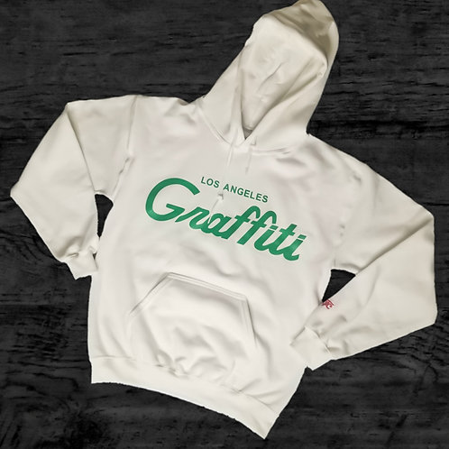 GRAFFITI THE CITY CLOVER GREEN  HOODIE
