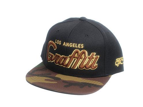 LOS ANGELES GRAFFITI - CAMO BILL ON BLACK BROWN METALLIC -