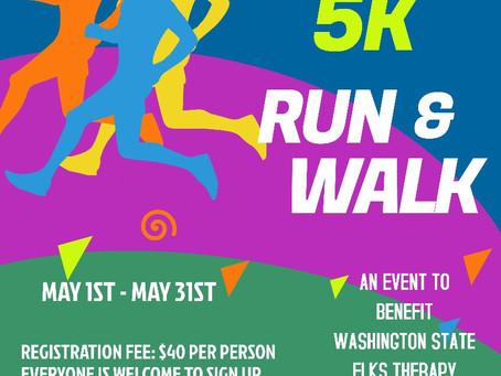 Register Now: Seattle Elks 2nd Annual Virtual 5K Run & Walk!