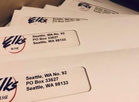 2020-2021 Seattle Elks Lodge #92 Dues