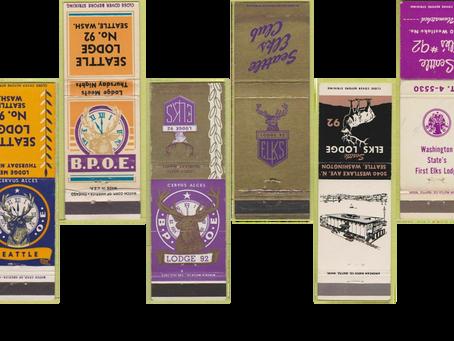 Seattle #92 History Corner –Matchbooks
