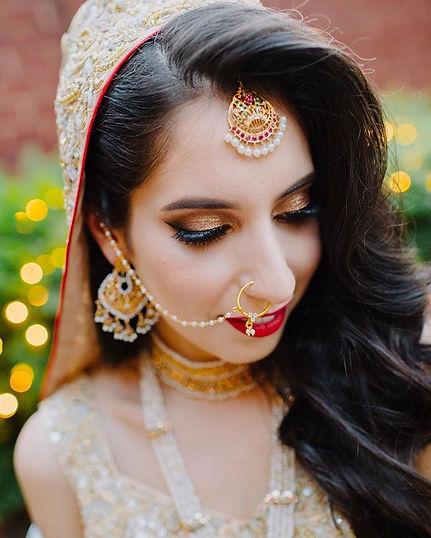 Caitlyn Meyer South Asian Indian Pakistani Bridal Hair and Makeup Baltimore MD DC VA Destination Weddings Cruelty Free Vegan Artist