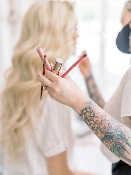 Lauren Fair Caitlyn Meyer Bridal Hair and Makeup Baltimore MD DC VA Destination Weddings Cruelty Free Vegan Artist Education