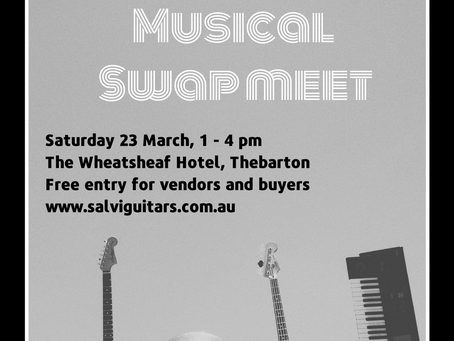 Salvi's Free Swapmeet 23rd March!