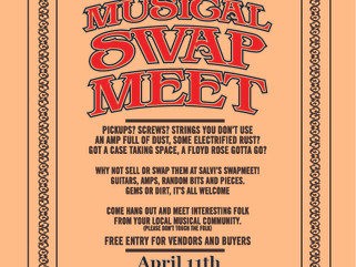 So we're having a good ol' fashioned SWAP MEET! Sat. 11th April 2015!