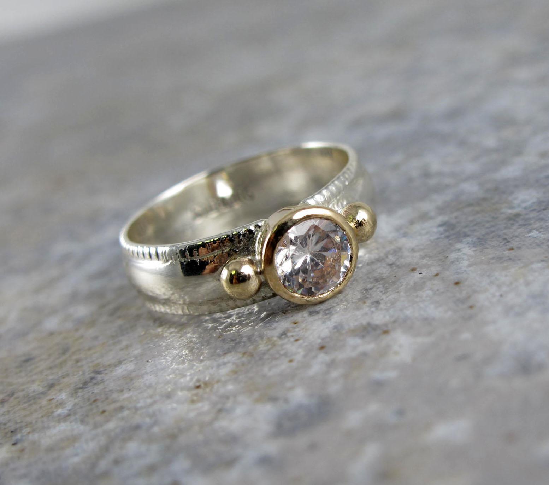 14k and silver diamond