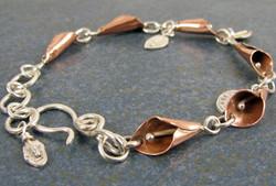 calla lily bracelet