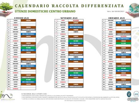 Calendario della raccolta differenziata Utenze Residenziali Centro Urbano