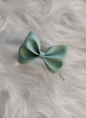 Le joli Bracelet nœud Vert d'eau