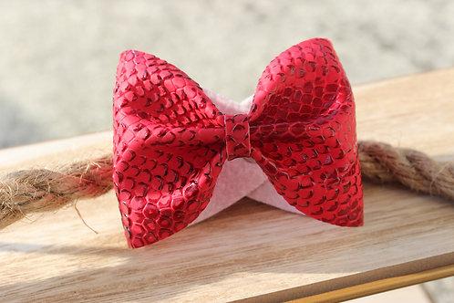 """Le joli Bracelet nœud Rouge """"Effet croco"""""""