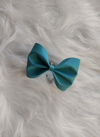 Le joli Bracelet nœud Bleu Canard