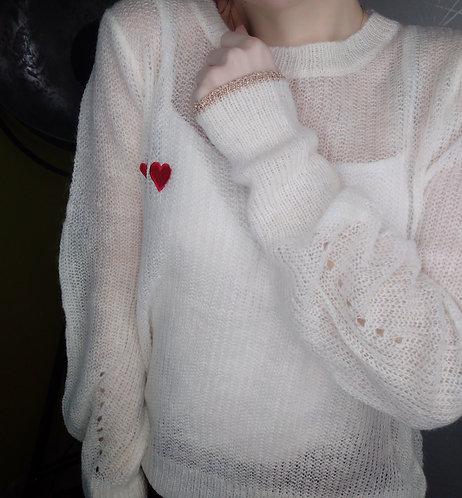 "Le Pull Blanc "" love """