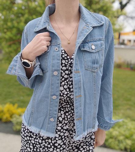 La petite Veste en Jean Bleu clair