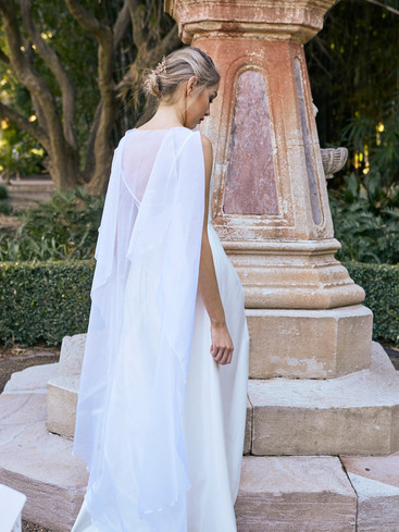 Margot Gown with Cape