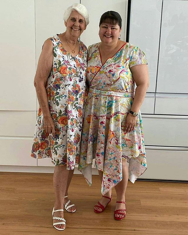 The beautiful birthday girls, wearing th