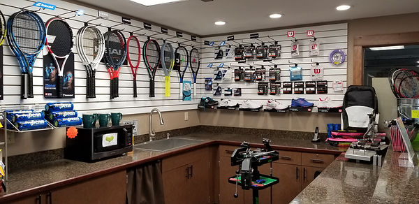 spokane racquet club pro shop tennis racquet stringing drip demo