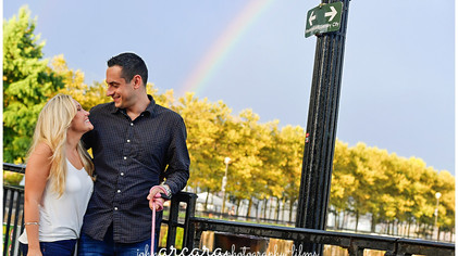 || 5 Tips for Rain On Your Wedding Day: Amanda + Dennis - Hoboken Engagement Session ||
