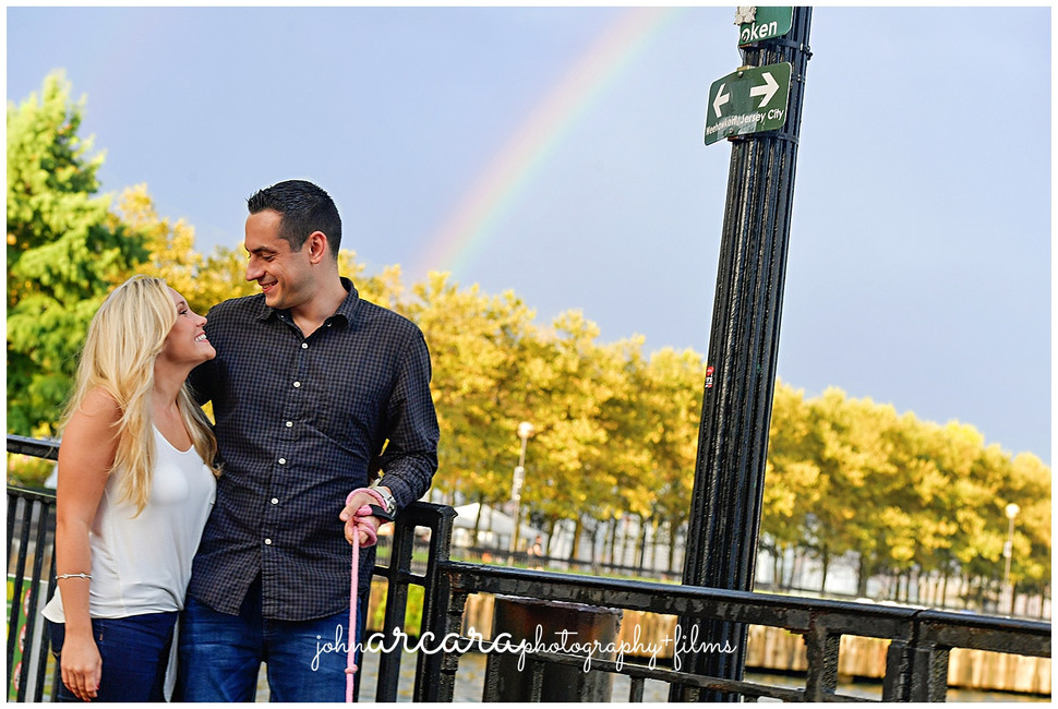 || 5 Tips for Rain On Your Wedding Day: Amanda + Dennis - Hoboken Engagement Session ||