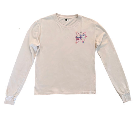 Cream Long Sleeve Beaded