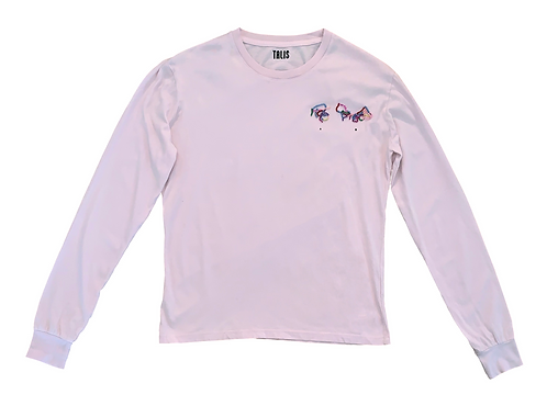 Beaded Pink Long Sleeve