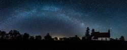 Milchstraßenpanorama schwäbische Alb