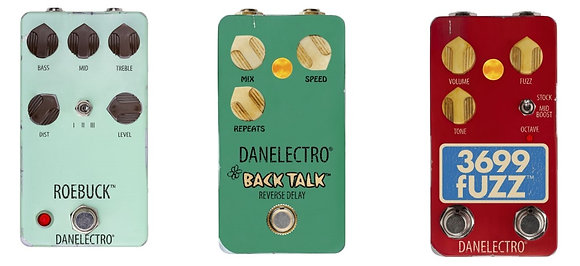 Danelectro-PEDALS| ROBUCK| TALK BACK| 3699 FUZZ