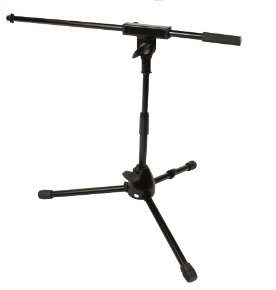 Low Level Tripod Mic Stand With Fixed- Length Boom