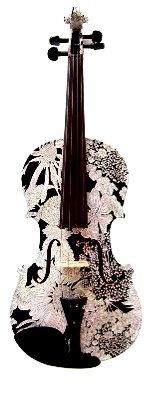 GENEVA WHITE FLOWER MEDLEY VISUAL ART VIOLIN