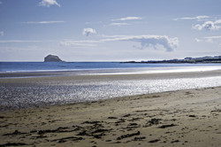 Bass Rock, from Broad Sands Beach, near