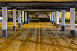 Barley malt on malting floor in the dist