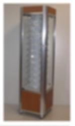 vitrine montres tour d'exposition medium et métal