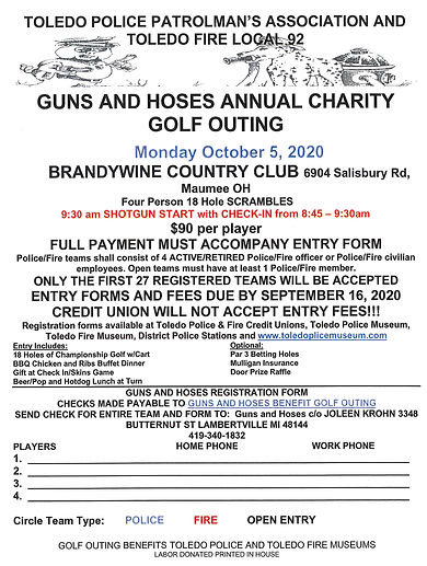 Gun and Hoses Annual Charity Golf Outing