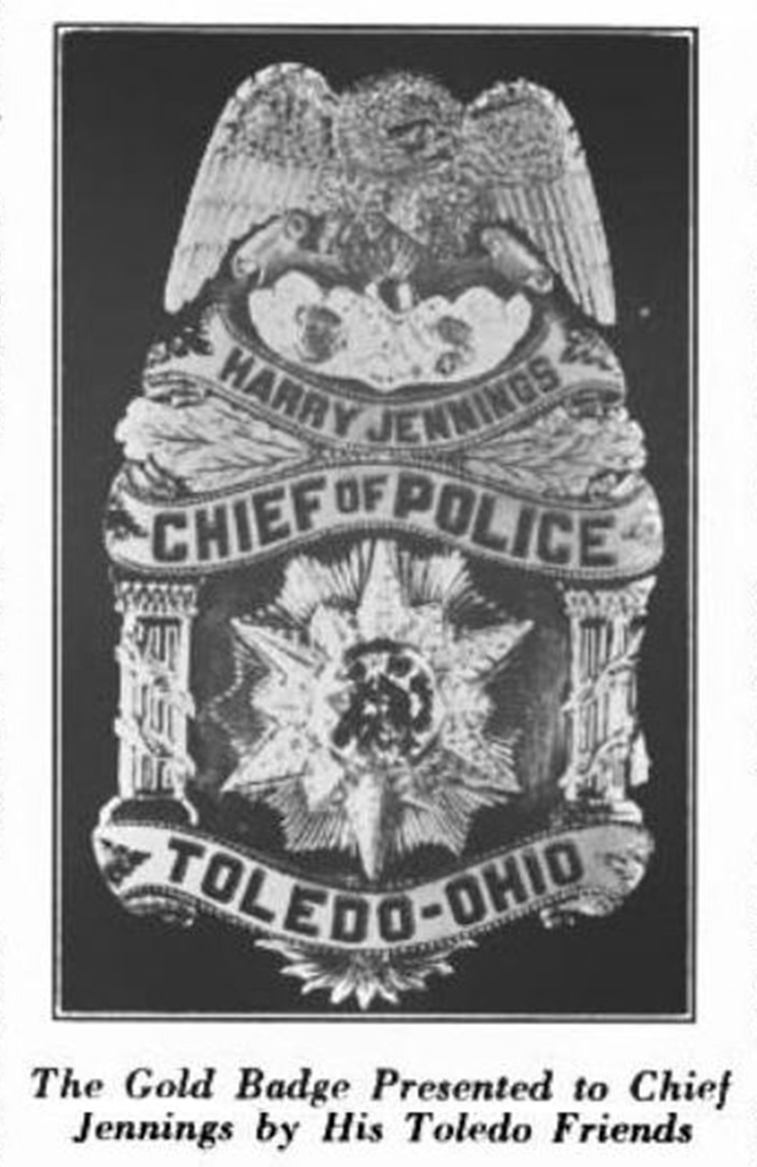 Jennings Badge from 1922 National Police Journal