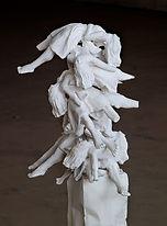 Totem (detail), 2013, polyester resin, p