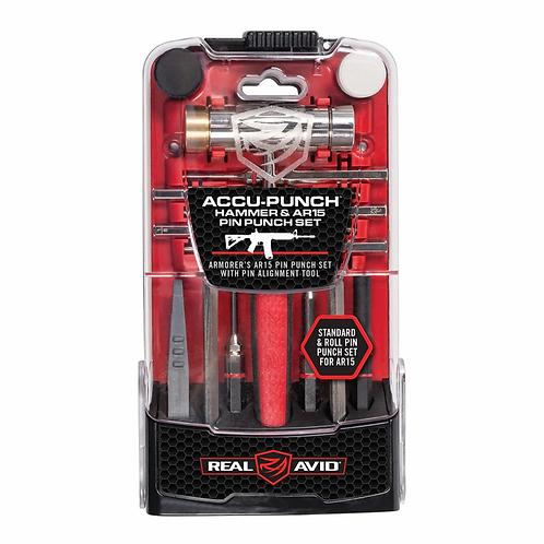 Real Avid ACCU-PUNCH™ Zestaw wybijaków do pinów AR15 z młotkiem