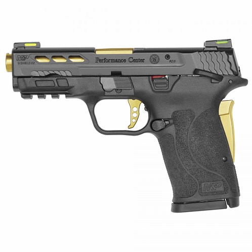 S&W PERFORMANCE CENTER® M&P®9 SHIELD™ EZ® GOLD PORTED BARREL MANUAL THUMB SAFETY