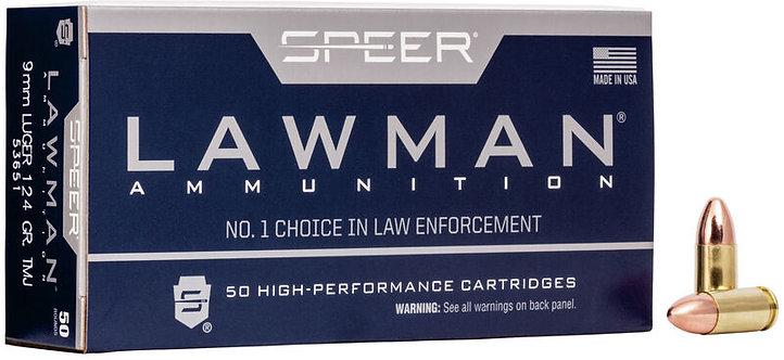 SPEER Lawman 9x19, 124gr TMJ (CleanFire)